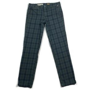 Pilcro and the Letter Press Hyphen Plaid Green